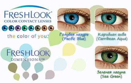 Цветные контактные линзы FreshLook Dimensions